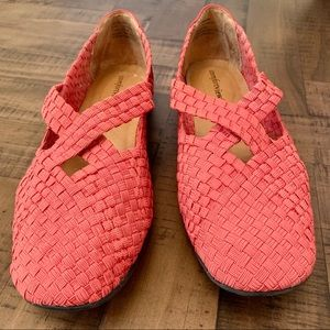 Coral Red Slip-On Shoes